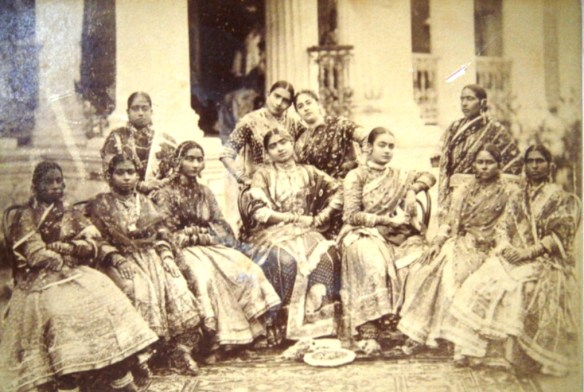 Gauhar Jan, Seated Center with Nauch Girls, c.1800's
