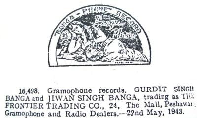 Banga-Phone Record - Trademark