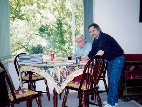 Michael Kinnear and Ernie Bayly preparing The Zonophone Record Book