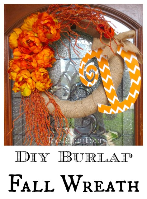 DIY Fall Wreath - The oranges, yellows and reds are just so beautiful this time of year. So I made this adorable DIY Fall wreath! Check it out!