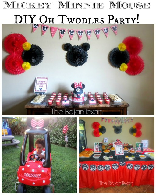 Minnie Mouse oh Twodles DIY Birthday Party - If you are ever planning a Mickey or Minnie mouse DIY birthday party, you can find this post very useful!