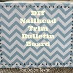 Nail Head Trim Bulletin Board