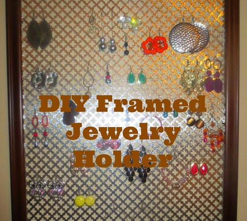 DIY Framed Jewelry Holder – The easiest project ever!