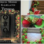 DIY Holiday Garland Using Deco Mesh (Holiday Decor Series)
