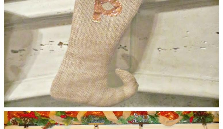 DIY Christmas Stockings: Burlap Elf Stockings (Holiday Decor Series 3)