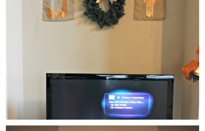DIY Burlap Christmas Banners