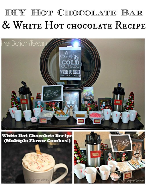 DIY Hot Chocolate Bar and More - Perfect for keeping your guest warm and entertained. It's so easy quick to make. And inexpensive too!