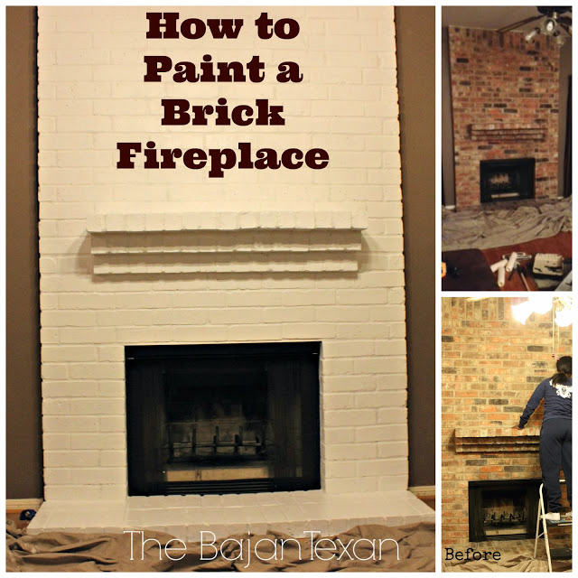to paint a brick fireplace check out how i painted my friend 39 s brick. Black Bedroom Furniture Sets. Home Design Ideas