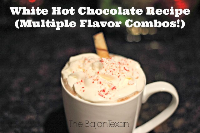 White Hot Chocolate Recipe (Multiple Flavor Combos) - This thing is decadent and divine. So quick to make. Makes a few cups.