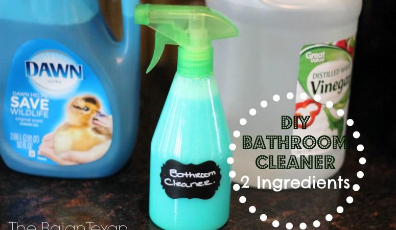 DIY Bathroom Cleaner (Spring Cleaning Series 2)