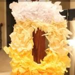 Tissue Paper DIY Spring Wreath Tutorial