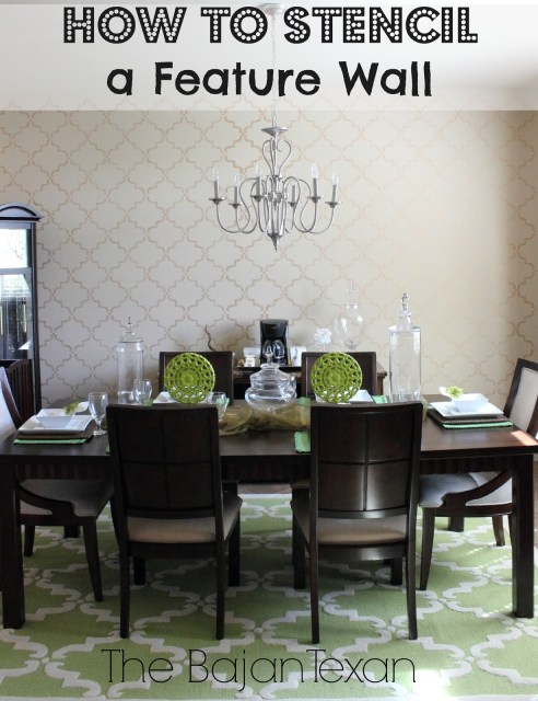 How to Stencil a Wall - Make a statement wall with some paint and stencils. Check out how quickly and easily I made one for my home: