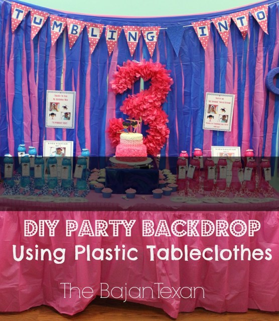DIY Party Backdrop - This party backdrop is an easy peasy project! You can make it in minutes and results are awesome! Even kids can help!