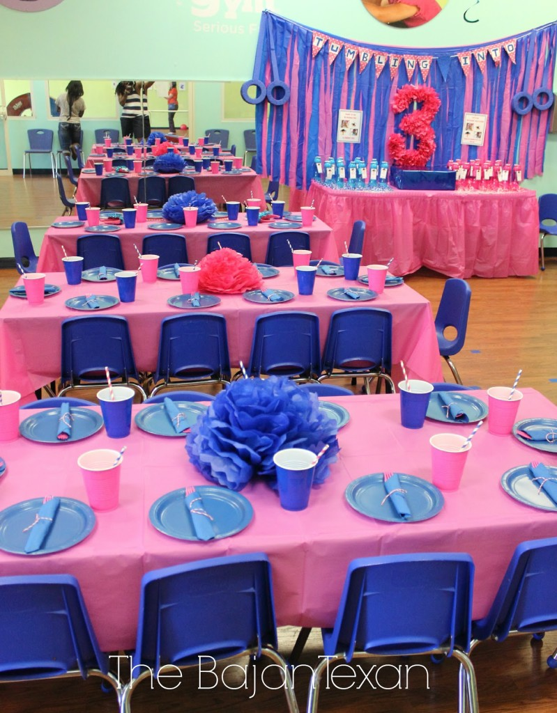 Gymnastics Birthday Party Decorations Diy Birthday Party At The Little Gym The Bajan Texan