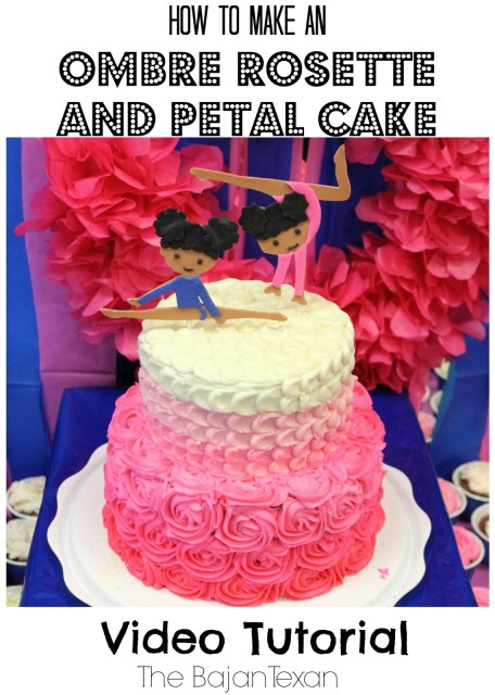 Cake Ideas: Rosette Petal Two Tier Cake Tutorial
