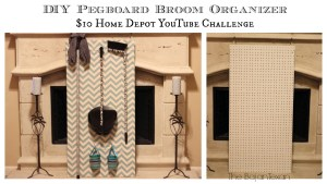 DIY broom organizer