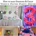 DIY Tissue Paper Flower Party Decor Video Tutorial