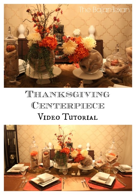 DIY Thanksgiving Centerpiece Video Tutorial - Learn how to make a thanksgiving centerpiece on a budget.