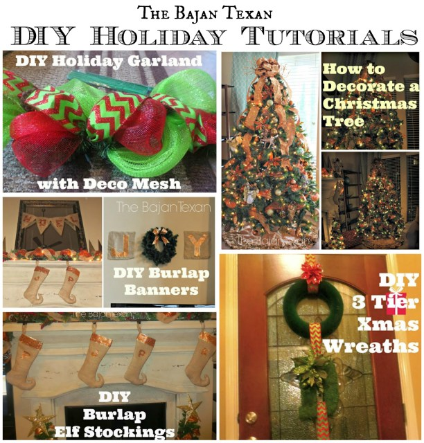 DIY Christmas Holiday Tutorials - Check out these inspiring DIY holiday decor projects!