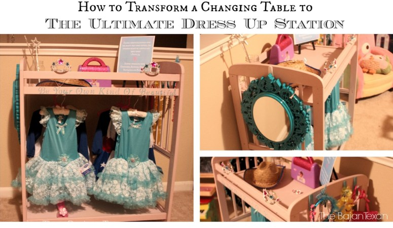Changing Table to DIY Dress Up Station Video Tutorial
