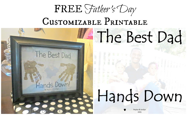 Free Father's Day Printable Gift: Hand-print Printable