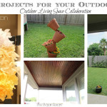 5 Cheap Easy Outdoor Space DIY Ideas: Outdoor Living Space YouTube Collaboration