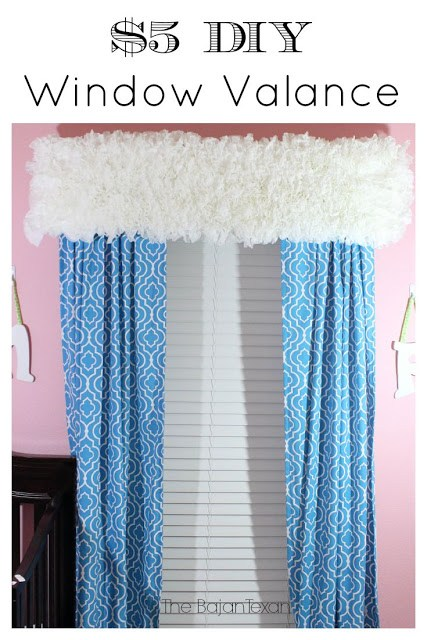 DIY window treatment - DIY window valance