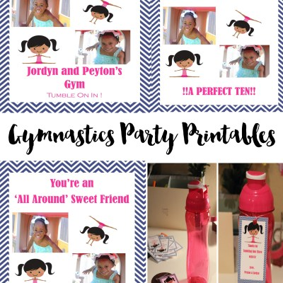 gymnastics party printables