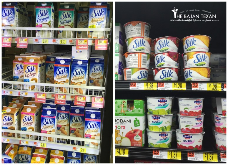 Silk Almond milk and yogurt in walmart