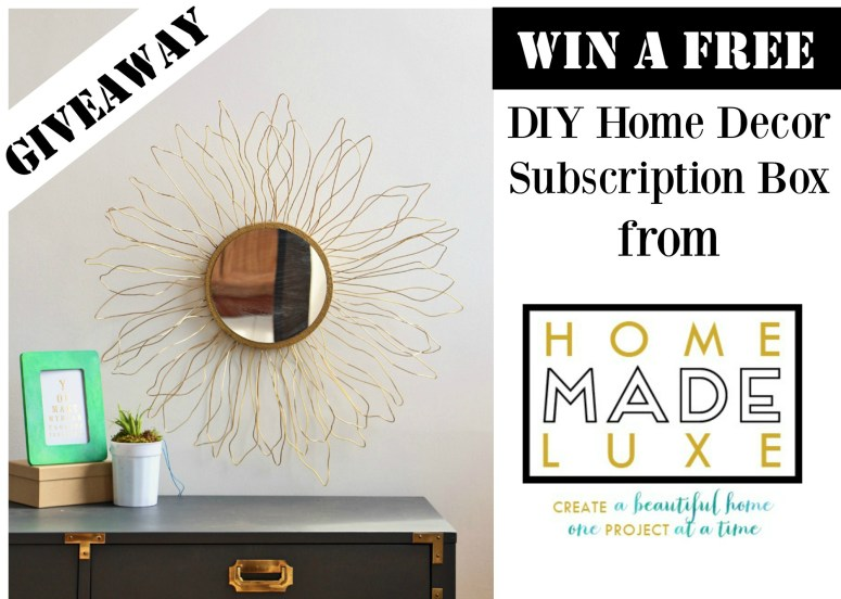 Free DIY Home Decor Subscription Box Giveaway - Home Made Luxe is a monthly DIY home decor subscription box direct to your door! Check it out!
