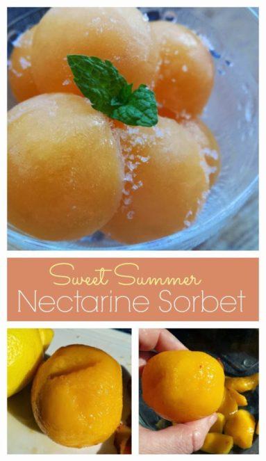 Nectarine Sorbet