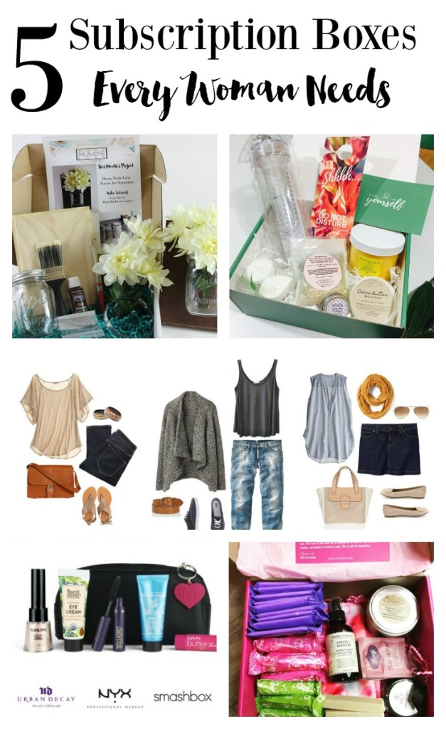 best subscription boxes for women: craft, beauty, fashion, selfcare, period