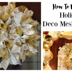 How to Make a Christmas Deco Mesh Wreath