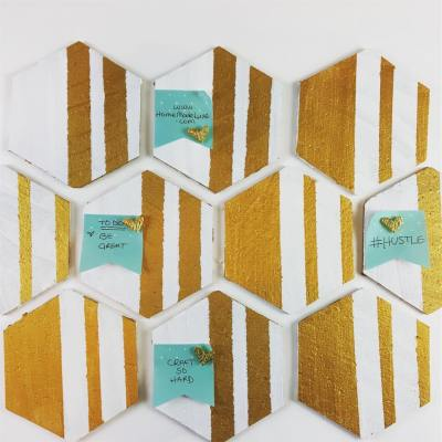 hexagon cork board