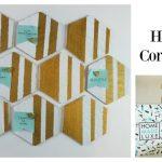 DIY Hexagon Cork Board for your Vision Board or Wall Organization