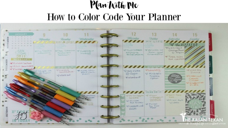 How to Color Code a Planner to Stay Organized - Use the best colored pens for planners Pilot G2.