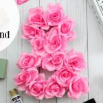 DIY Floral Ampersand