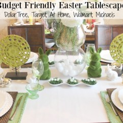 Dollar Tree Easter Chair Covers Dining Table Chairs For Sale Budget Friendly Tablescape Spring Blog Hop The
