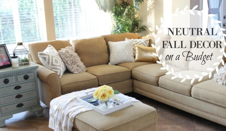 My Neutral Fall Living Room Decor on a Budget