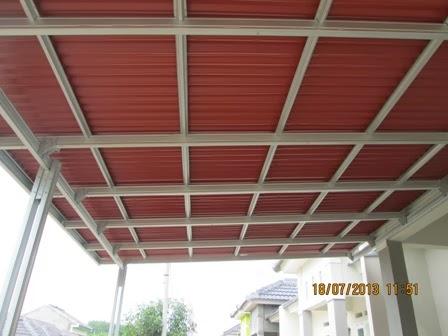 harga kanopi baja ringan atap polycarbonate gambar model canopy   cikarang