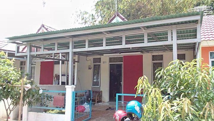 jasa pemasangan baja ringan bekasi canopy gogreen villa mutiara gading   cikarang