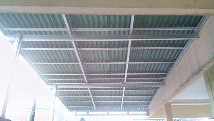 jasa pemasangan baja ringan bekasi canopy gogreen di telaga harapan   cikarang