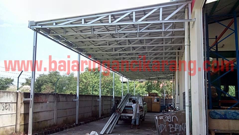 kanopi minimalis dari baja ringan gambar model canopy   cikarang