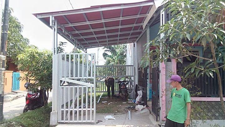 kanopi baja ringan taso canopy dan pagar minimalis di perum grand ...