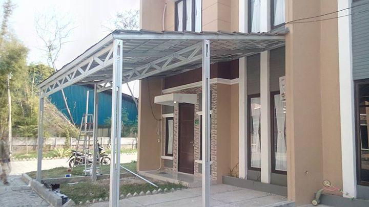 contoh atap baja ringan rumah minimalis gambar model canopy | cikarang