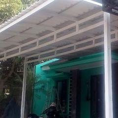 Contoh Rangka Atap Baja Ringan Minimalis Canopy Alderon Putih