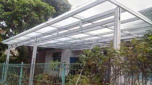 kanopi baja ringan tiang double gambar model canopy | cikarang