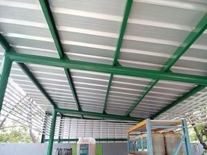 model kanopi atap baja ringan canopy spandek di spbu pertamina lippo ...