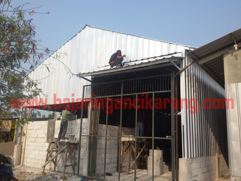 canopy baja ringan di jakarta proyek rangka cremona atap spandeck palem ...