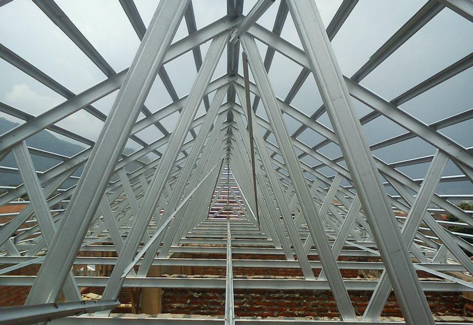 harga baja ringan per meter lampung rangka atap jual